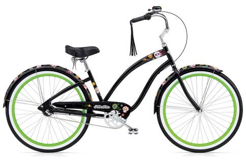 Electra SugarSkulls 3i Womens Cruiser was $1100. This is the last one at just $700 – a New Year bargain!